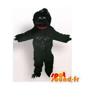 Mascotte zwarte gorilla. zwart gorilla pak