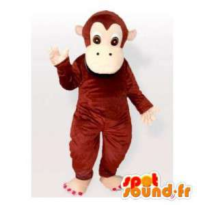 Mascotte de singe marron, simple et personnalisable