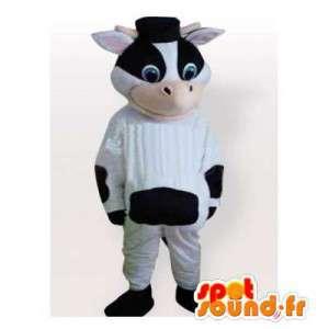 Maskotti musta ja valkoinen lehmä. lehmä naamioida - MASFR006321 - lehmä Maskotteja
