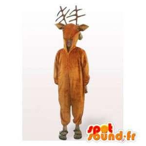 Mascotte d'élan marron. Costume de renne