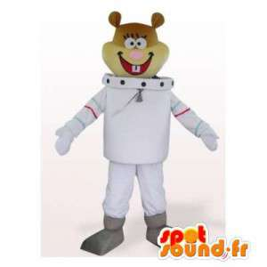 Mascot Sandy, astronaut bever venn SpongeBob