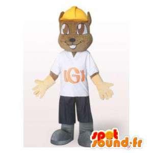Mascot arbeider bever. Beaver Costume - MASFR006329 - Beaver Mascot
