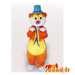 Mascotte de marmotte de cirque. Costume de cirque