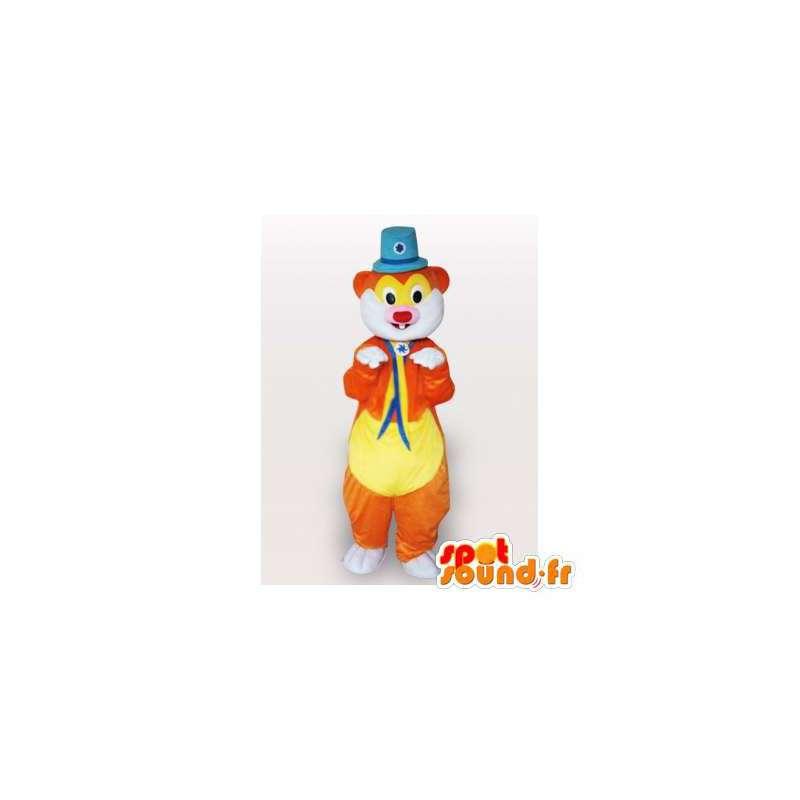 Circus groundhog maskot. Cirkusdragt - Spotsound maskot kostume