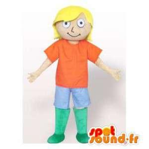 Mascot biondo in abito colorato. Dell uomo vestito - MASFR006343 - Umani mascotte