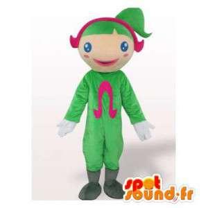 Menina mascote com um terno e cabelo verde - MASFR006345 - Mascotes Boys and Girls