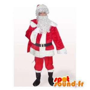 Mascot Santa Claus, muy realista