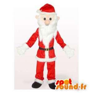 Mascotte de père Noël en peluche. Costume de père Noël