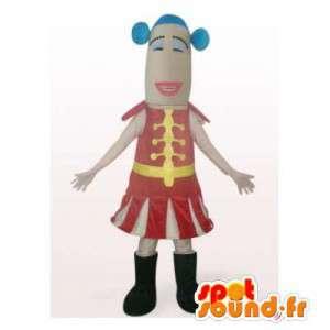 Circus trainer mascotte. circus costume