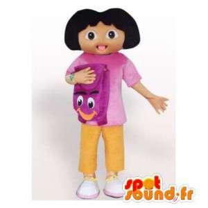 Mascotte de Dora l'exploratrice. Costume de Dora l'exploratrice - MASFR006349 - Mascottes Dora et Diego