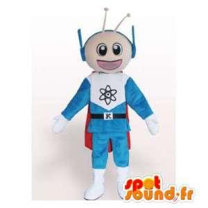 Pupazzo di neve spazio mascotte blu e bianco - MASFR006351 - Umani mascotte