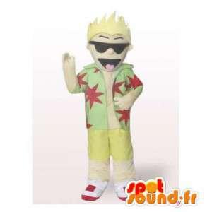 Vakantieganger mascotte. blond Costume - MASFR006361 - man Mascottes