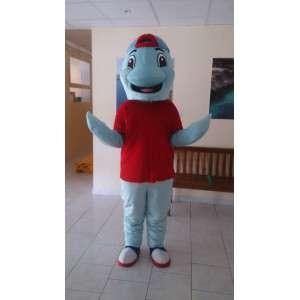Mascota de peluche en forma de delfín azul - Dolphin vestuario