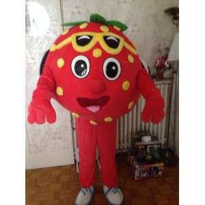 Mascote em forma gigante de morango - traje de morango