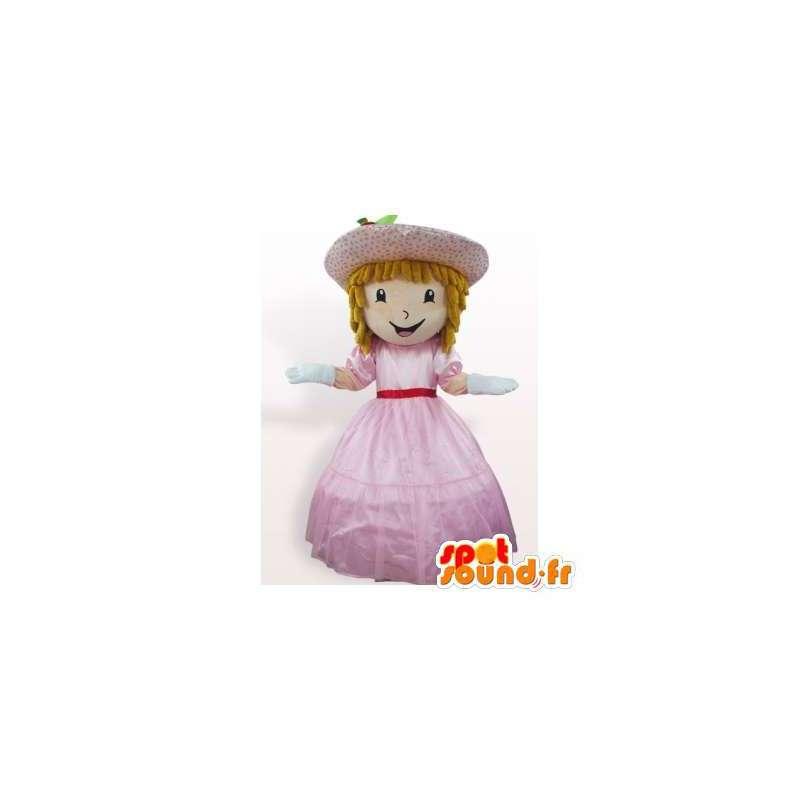 Mascotte de princesse en robe rose - MASFR006374 - Mascottes Fée