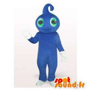 Mascot blaue Kerl mit einem Kopf geformt Drop - MASFR006377 - Menschliche Maskottchen