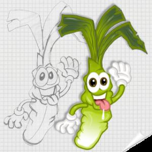 Mascotte van het ontwerp (Sketch, BAT, idee ...) - Mascot Marketing - GOODIES1000 - De extra's