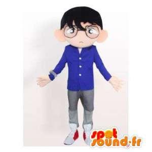 Mascot geek glasses. Costume geek - MASFR006379 - Human mascots