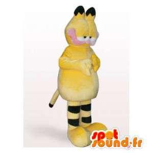 Garfield mascote, gato laranja e preto famoso - MASFR006393 - Garfield Mascotes
