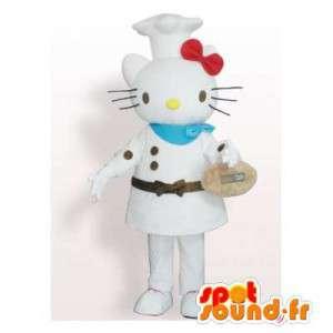 Kissa Mascot kokki niin Hello Kitty - MASFR006395 - kissa Maskotteja