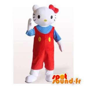 こんにちはキティのマスコット。ハローキティコスチューム-MASFR006400-ハローキティマスコット