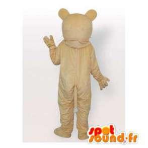 Mascotte de tigre beige. Costume de tigre - MASFR006402 - Mascottes Tigre