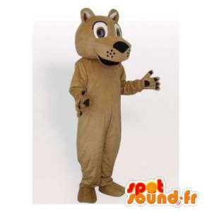 Beige tijger mascotte. Tiger Suit