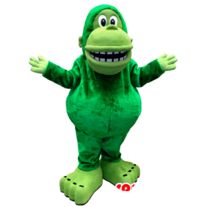 Green monkey mascot, giant