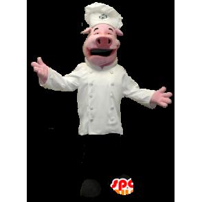 Pig Maskottchen in Koch gekleidet - MASFR20356 - Maskottchen Schwein