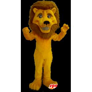 Yellow lion mascot with a big mane - MASFR20364 - Lion mascots