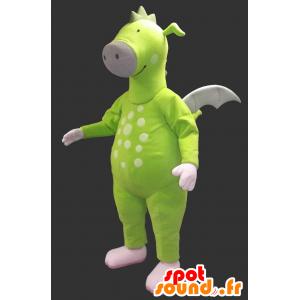 Neongrøn drage maskot - Spotsound maskot kostume