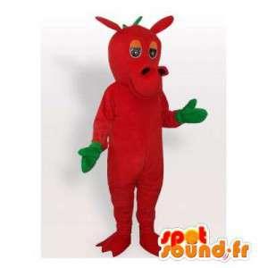 Mascot roten und grünen Drachen.Drachen-Kostüm - MASFR006410 - Dragon-Maskottchen
