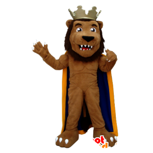 Lion mascot, dressed in king - MASFR20379 - Lion mascots