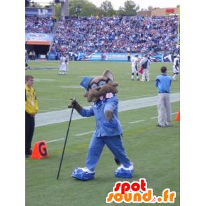 Mascot brown and black raccoon - MASFR20387 - Mascots of pups