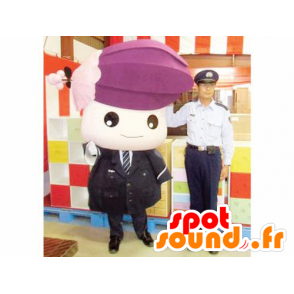 Mascotte hostess, girl in suit and tie - MASFR20392 - Mascots child
