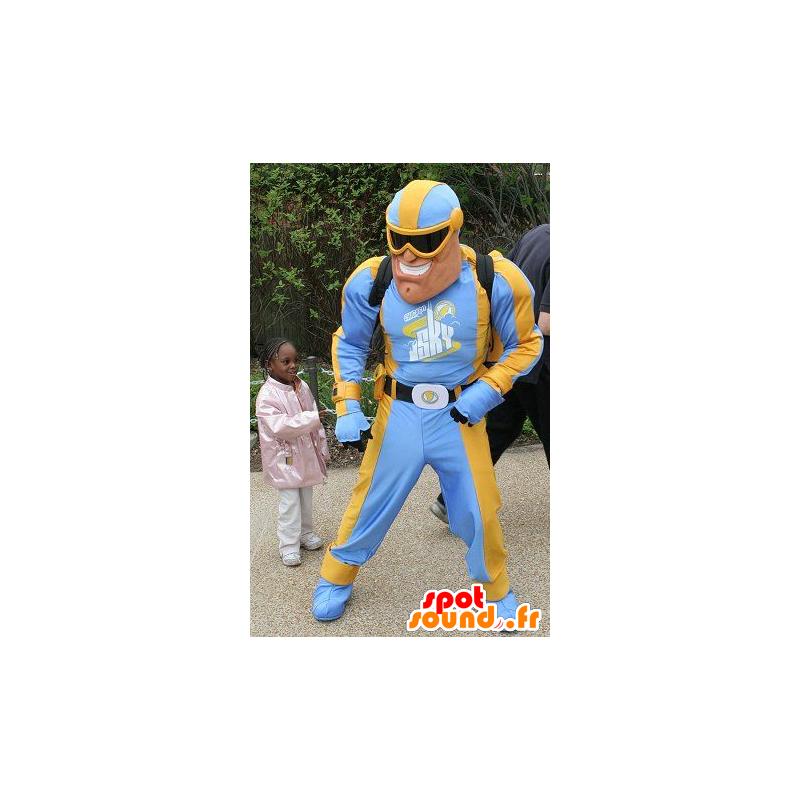 cheap for discount 3f090 01901 Supereroe mascotte in abito blu e giallo