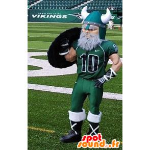 Bearded vichingo mascotte vestita di abbigliamento sportivo - MASFR20398 - Mascotte dei soldati