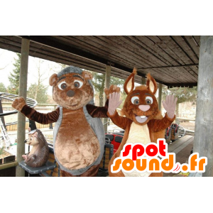 Mascottes Egel en Eekhoorn