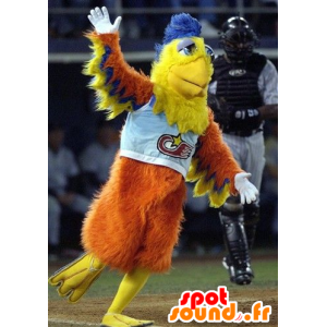 Mascot orange fugl, gul og blå - MASFR20410 - Mascot fugler