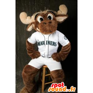 Mascotte de caribou, d'élan marron