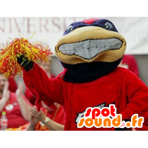 Blue and red turtle mascot