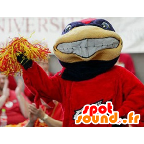 Blue and red turtle mascot - MASFR20461 - Mascots turtle
