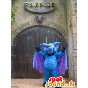 Mascot sininen bat, violetti ja musta - MASFR20462 - hiiri Mascot