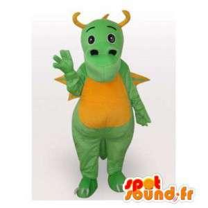 Zelená a žlutá dragon maskot. drak kostým - MASFR006413 - Dragon Maskot