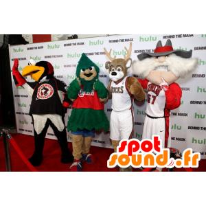 4 maskotki, ptak, drzewo, renifery i starca - MASFR20468 - ptaki Mascot