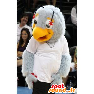 Mascot gray and orange bird - MASFR20475 - Mascot of birds