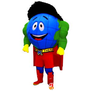superhero κόσμο μασκότ χάρτη - MASFR20483 - superhero μασκότ