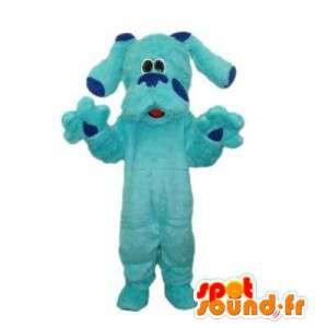 Maskotti vaaleansininen koira. Sininen Dog Costume - MASFR006415 - koira Maskotteja