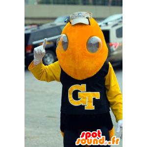 Mascotte d'abeille, de guêpe, d'insecte jaune