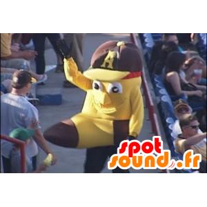 Riesen-Banane geformt Maskottchen - MASFR20512 - Obst-Maskottchen